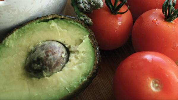 Avocado and tomatoes
