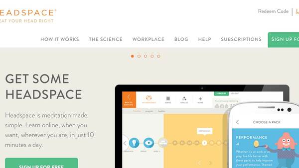 Headspace website
