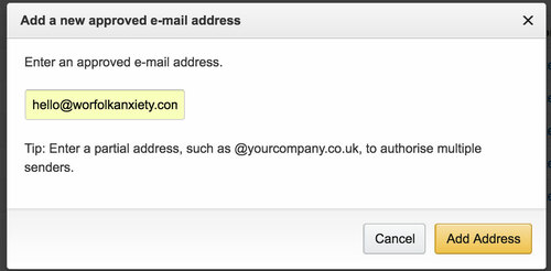 Add a new approved e-mail address for Kindle