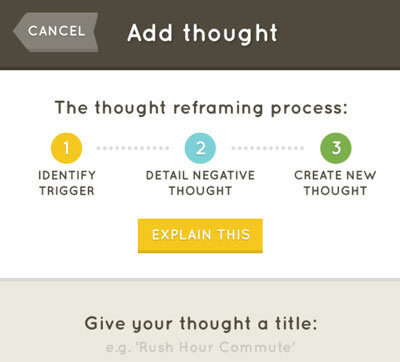 Thought reframing using the Companion app